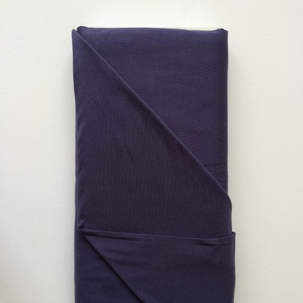 Stof tricot jersey donkerblauw