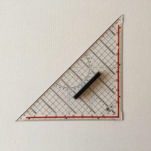 Geodriehoek 32 cm