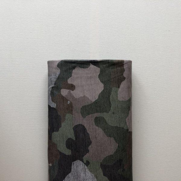 Stof Sweatstof Camouflage Grijs