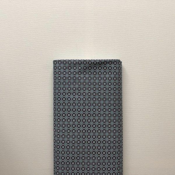 Katoentje Miniprint Bruin Blauw