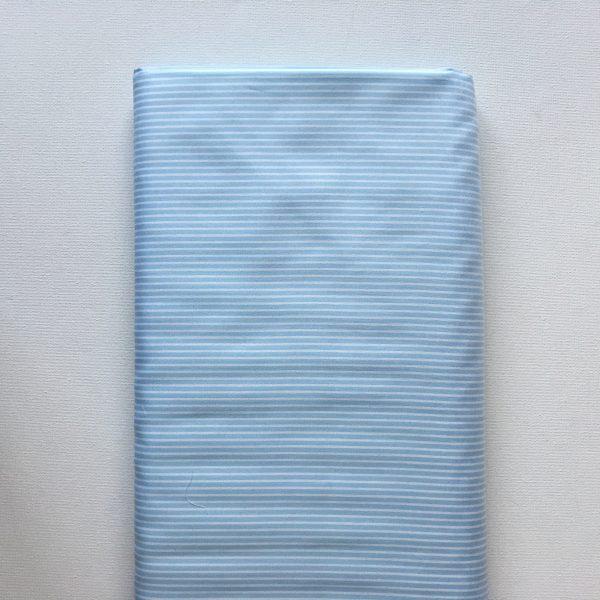 Katoen Lichtblauw streep
