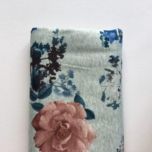 Sweater Bloemen Lichtblauw