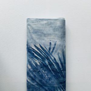 Stretchkatoen Blauw Blad