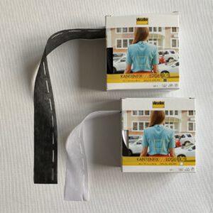 kantenfix 4+1cm zwart/wit