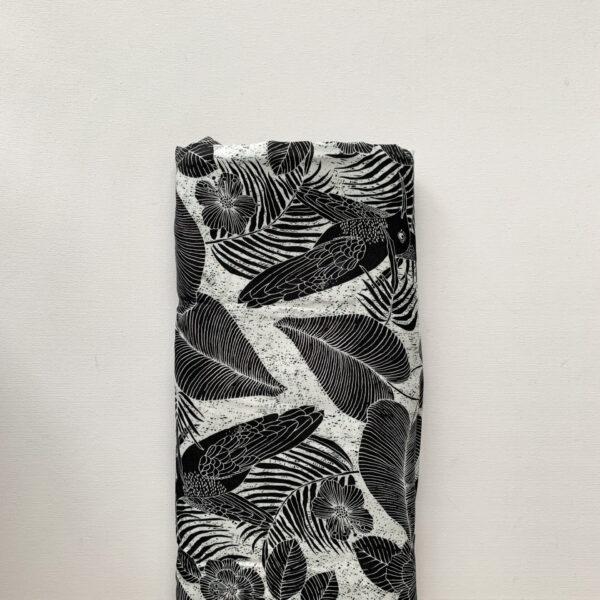 Viscose Jungle Zwart Wit