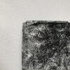 Stretchkatoen Palmblad Zwart Wit