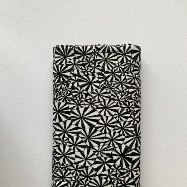 Crepe Zwart Wit Geometrisch