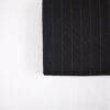 Gabardine Zwart Koperstreep